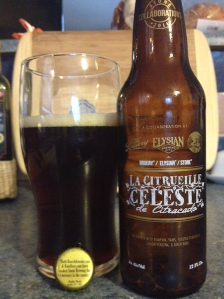 The Bruery, Elysian, and Stone La Citrueille Celeste De Citracado