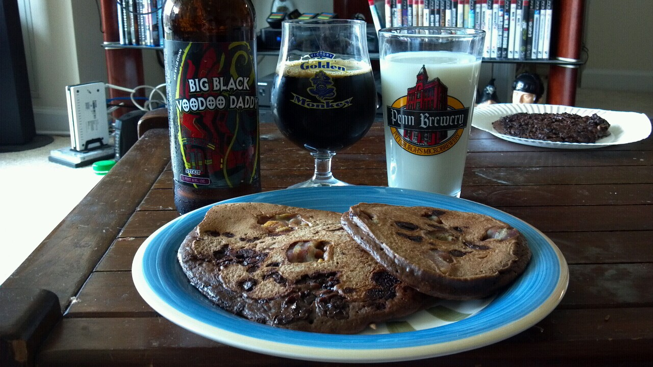 Cooking: Voodoo Brewery Big Black Voodoo Daddy Chocolate Pancakes