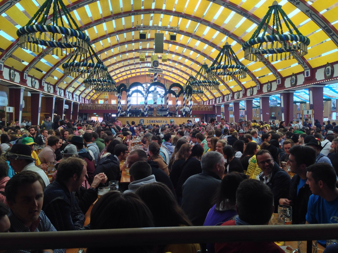 Liter Steins and German Tradition at Munich's Oktoberfest
