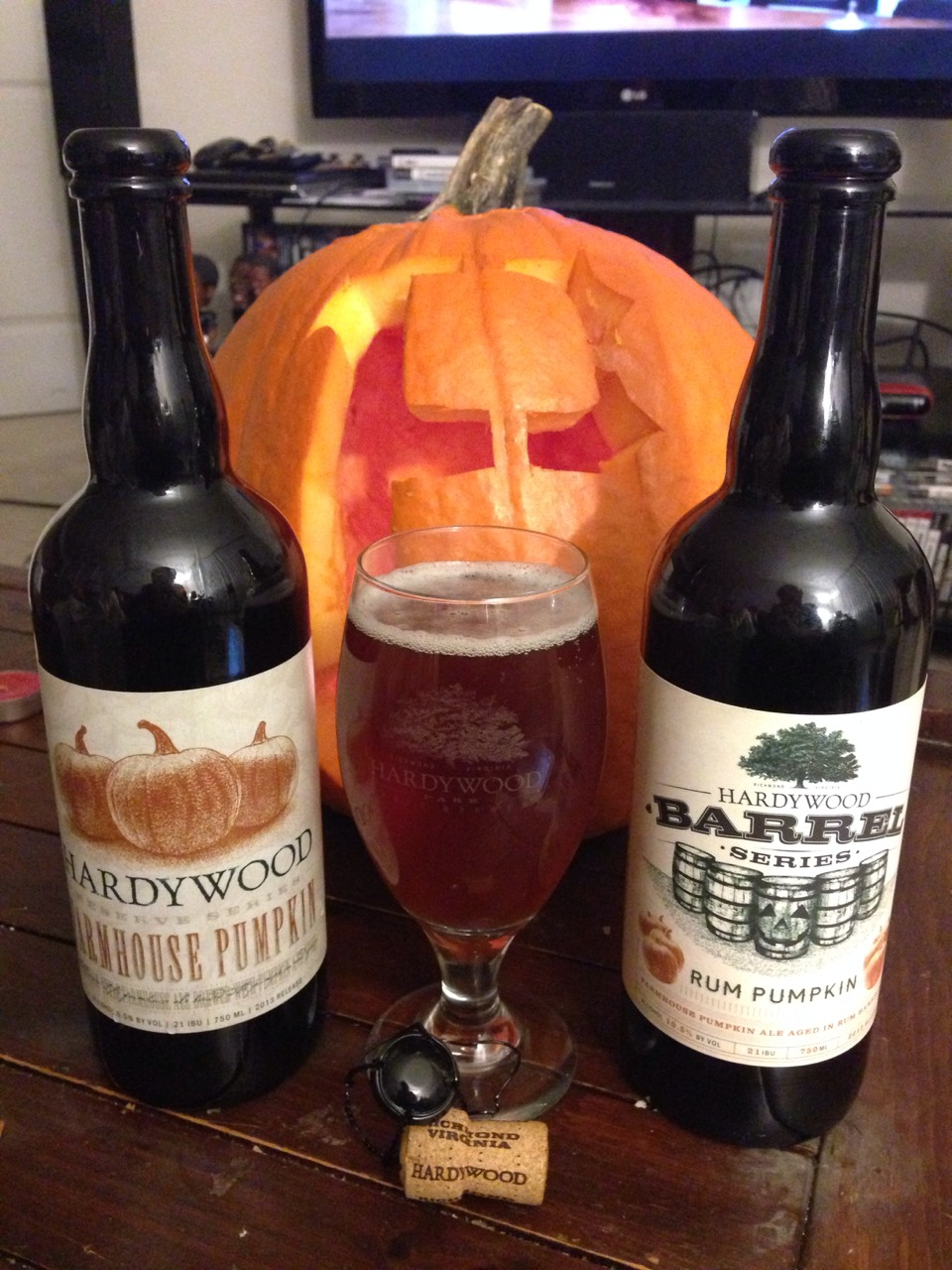 Better From The Barrel: Hardywood Farmhouse and Rum Pumpkin