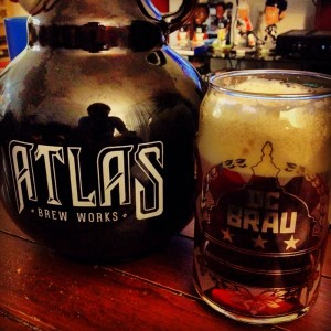 Atlas Brew Works w/ DC Brau Can Glass